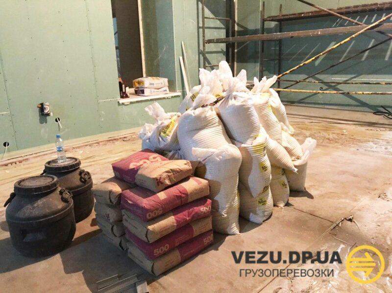 перевозка строительных материалов Днепр